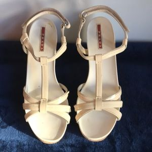 Prada Platform Sandal, White